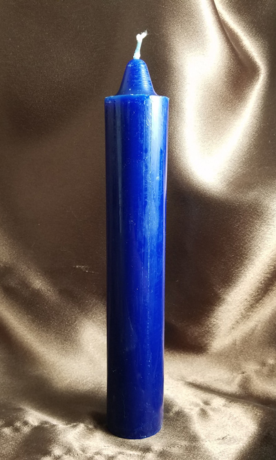 Blue Hoodoo Rootwork Jumbo Candle (9 inches)