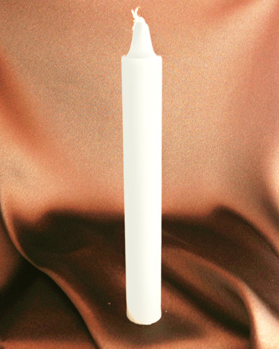 White Offertory Candle (6 inches)
