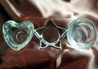 Glass Candle Holder (Jumbo size)